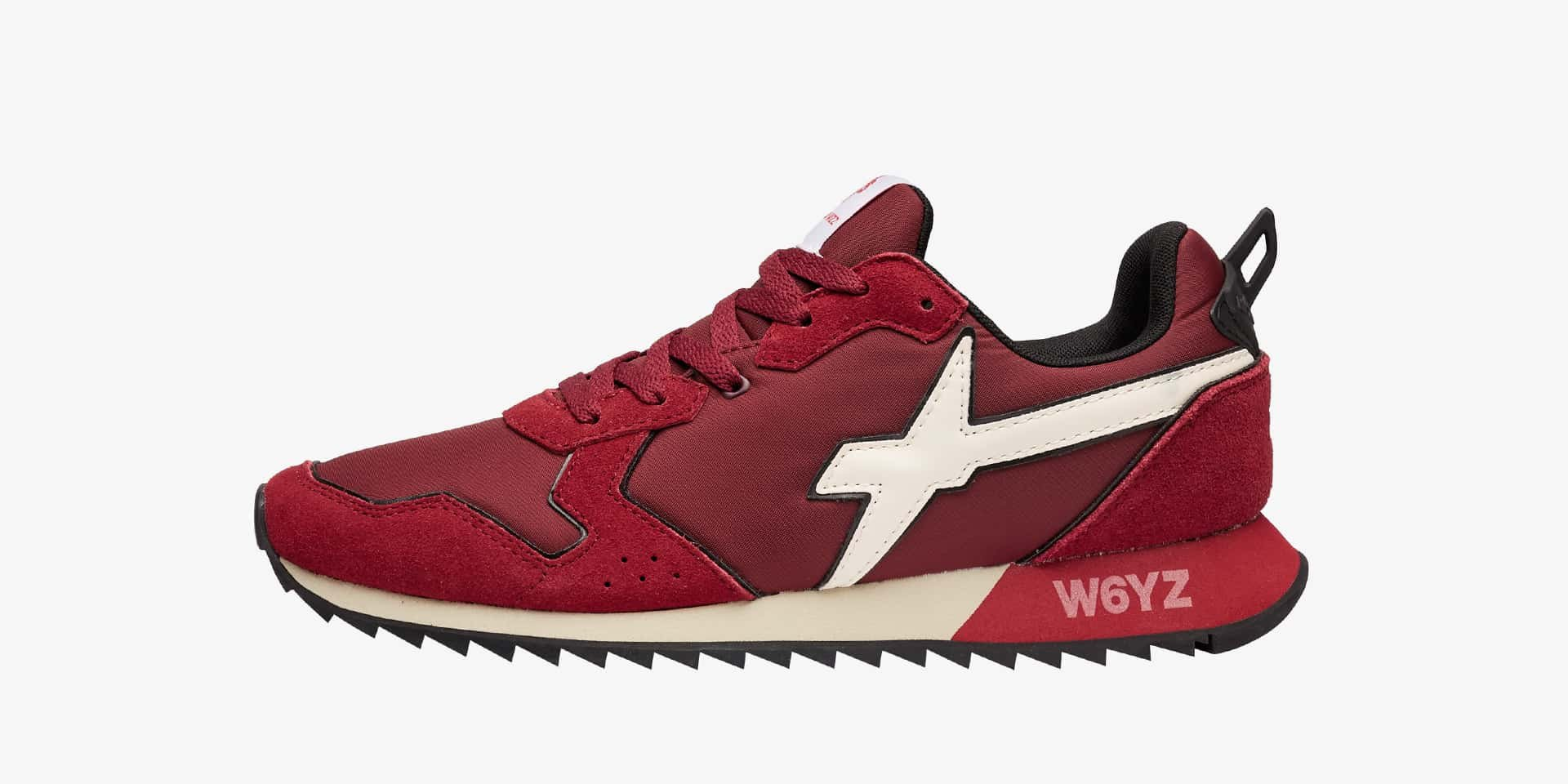 JET-M. - Technical fabric and suede sneakers - Red