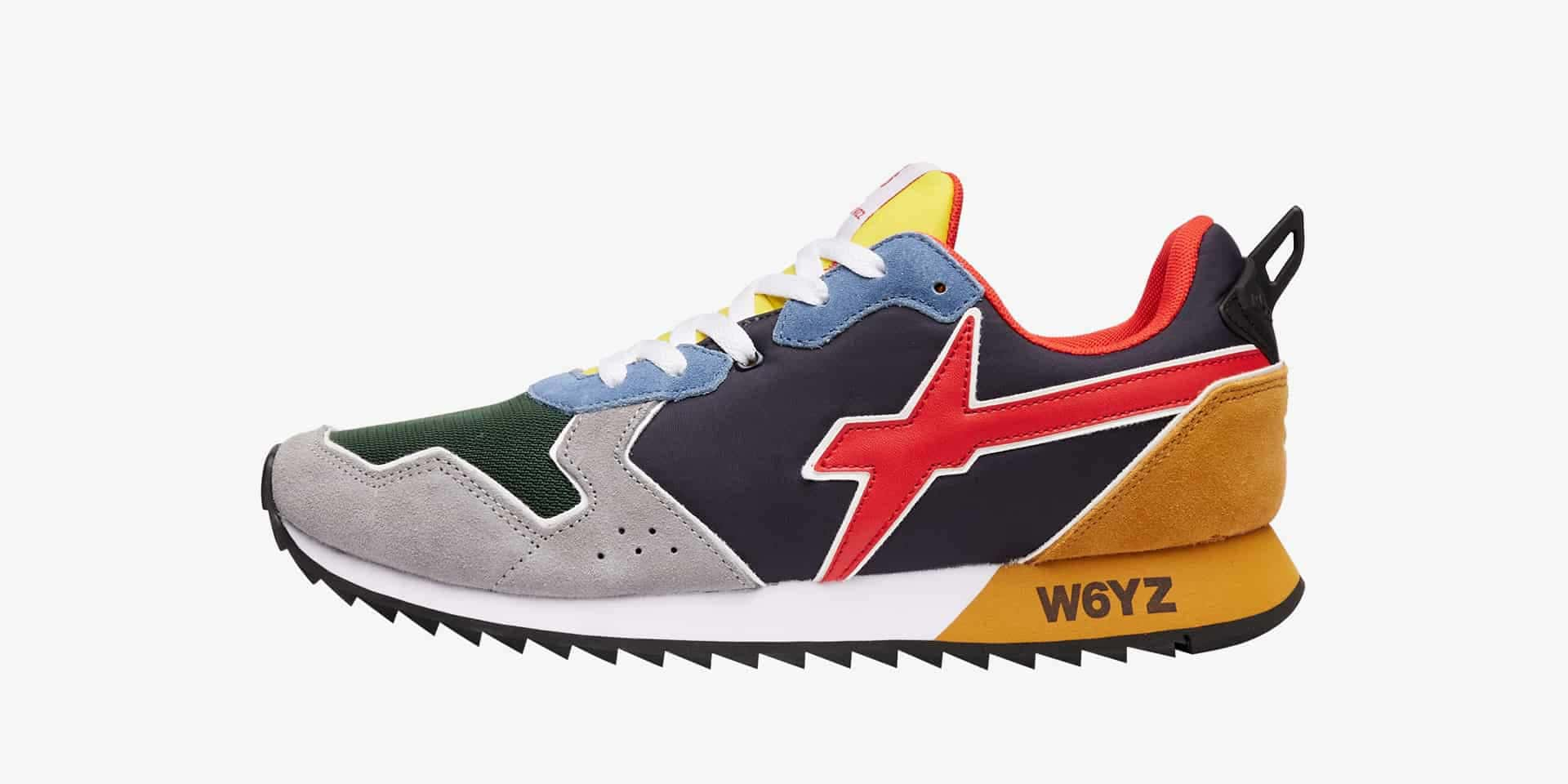 JET-M. - Technical fabric and suede sneakers - Multicoloured