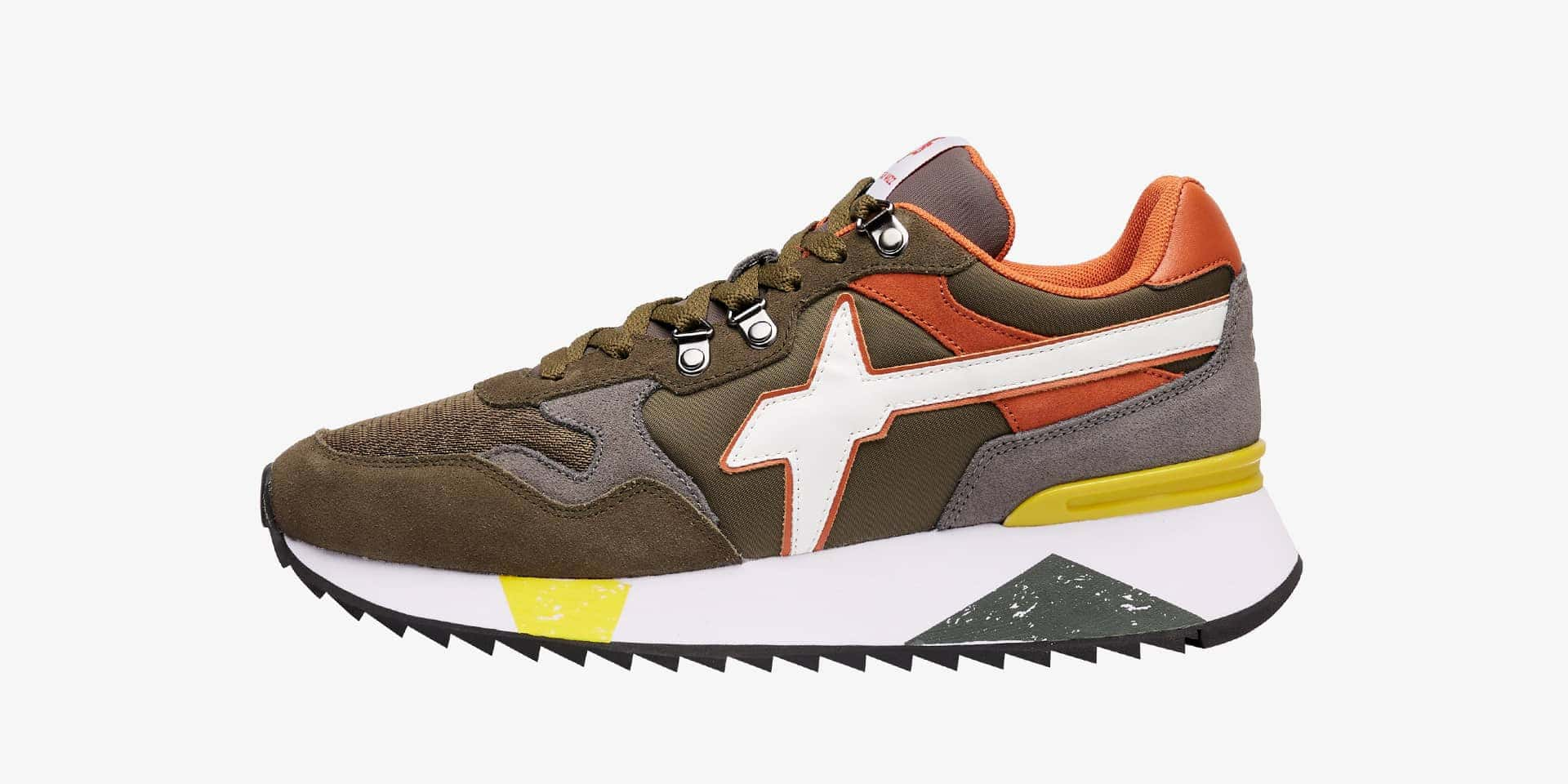 YAK-M. - Vegan-friendly leather and technical fabric sneakers - Multicoloured
