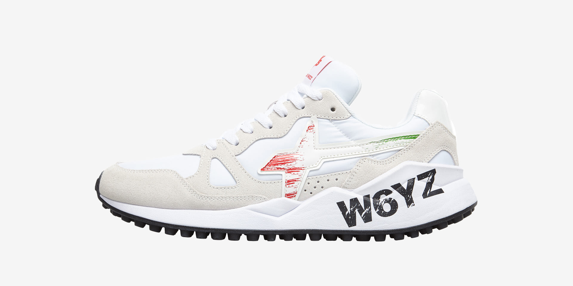 FLAG.I. - Sneakers in leather and nylon - White