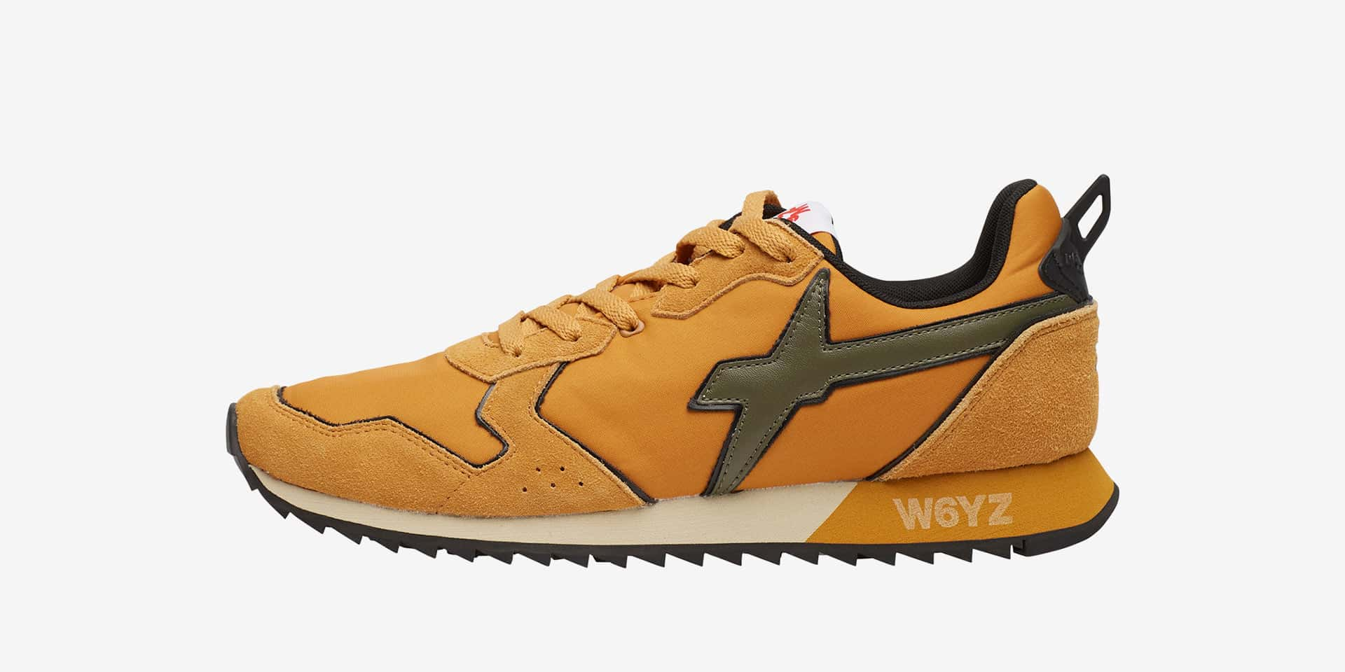 JET-M. - Leather and fabric sneakers - Tan/Military