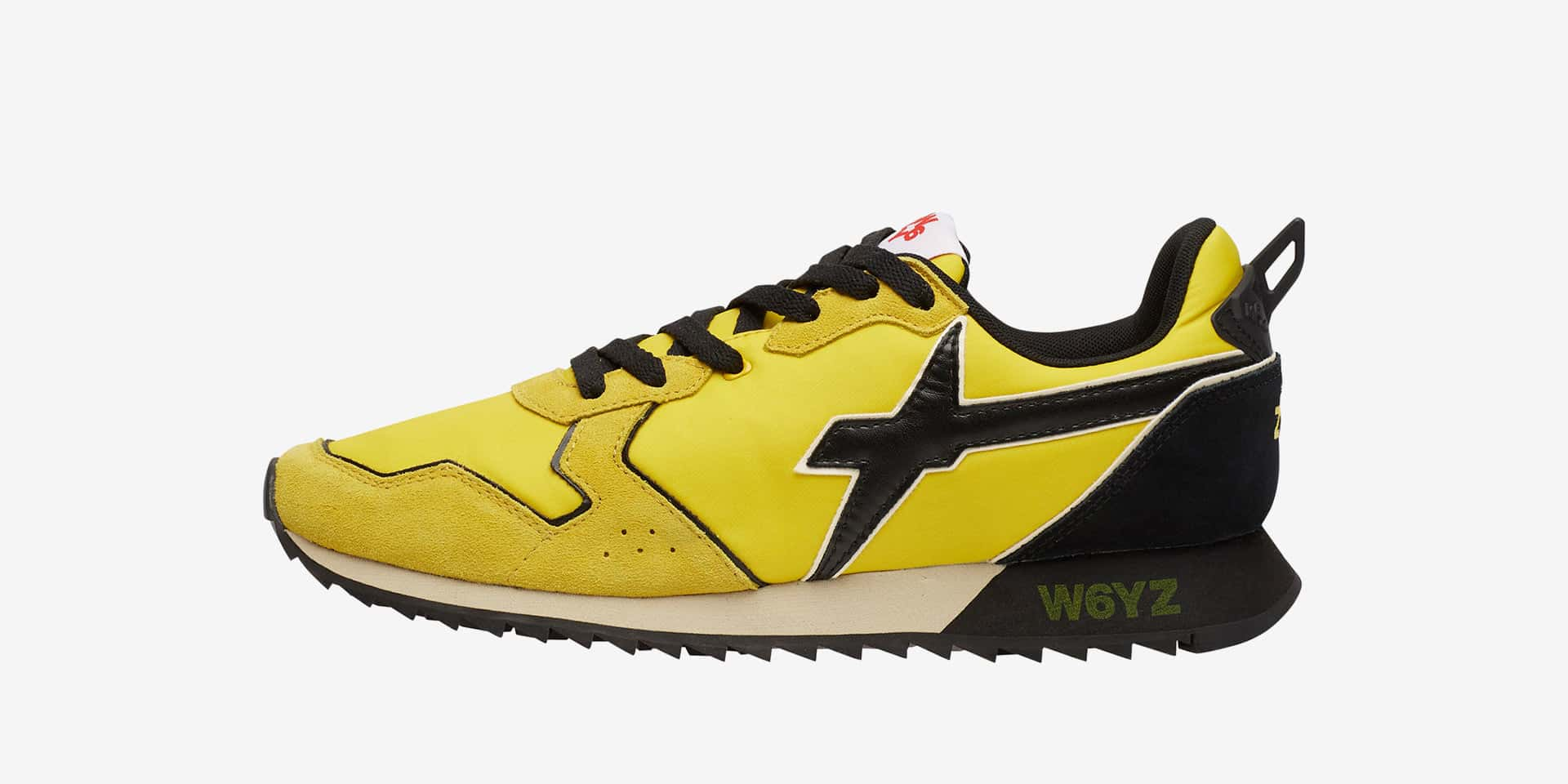 JET-M. - Fabric and leather sneakers - Yellow/Black