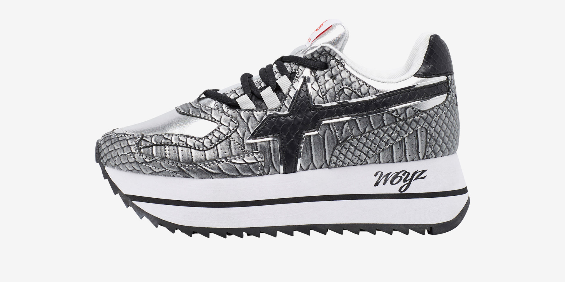 DEBBY-W. - Sneaker in technical fabric with print - Grey/Black