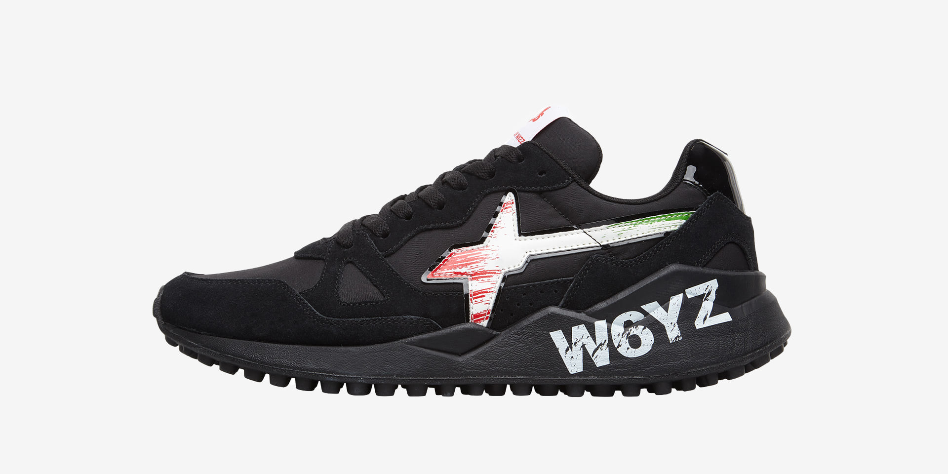 FLAG.I. - Sneakers in leather and nylon - Black