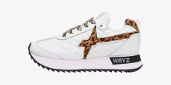 KIS-W. - Vegan-friendly leather and technical fabric sneakers - White