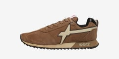 FLY-M. - Leather sneakers - Beige