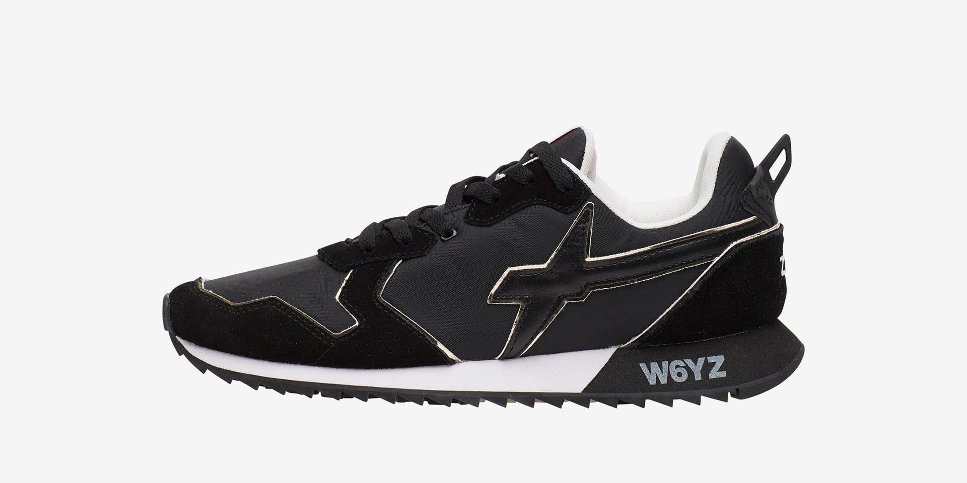 Sneaker in tessuto tecnico e suede Nero-JET-M.