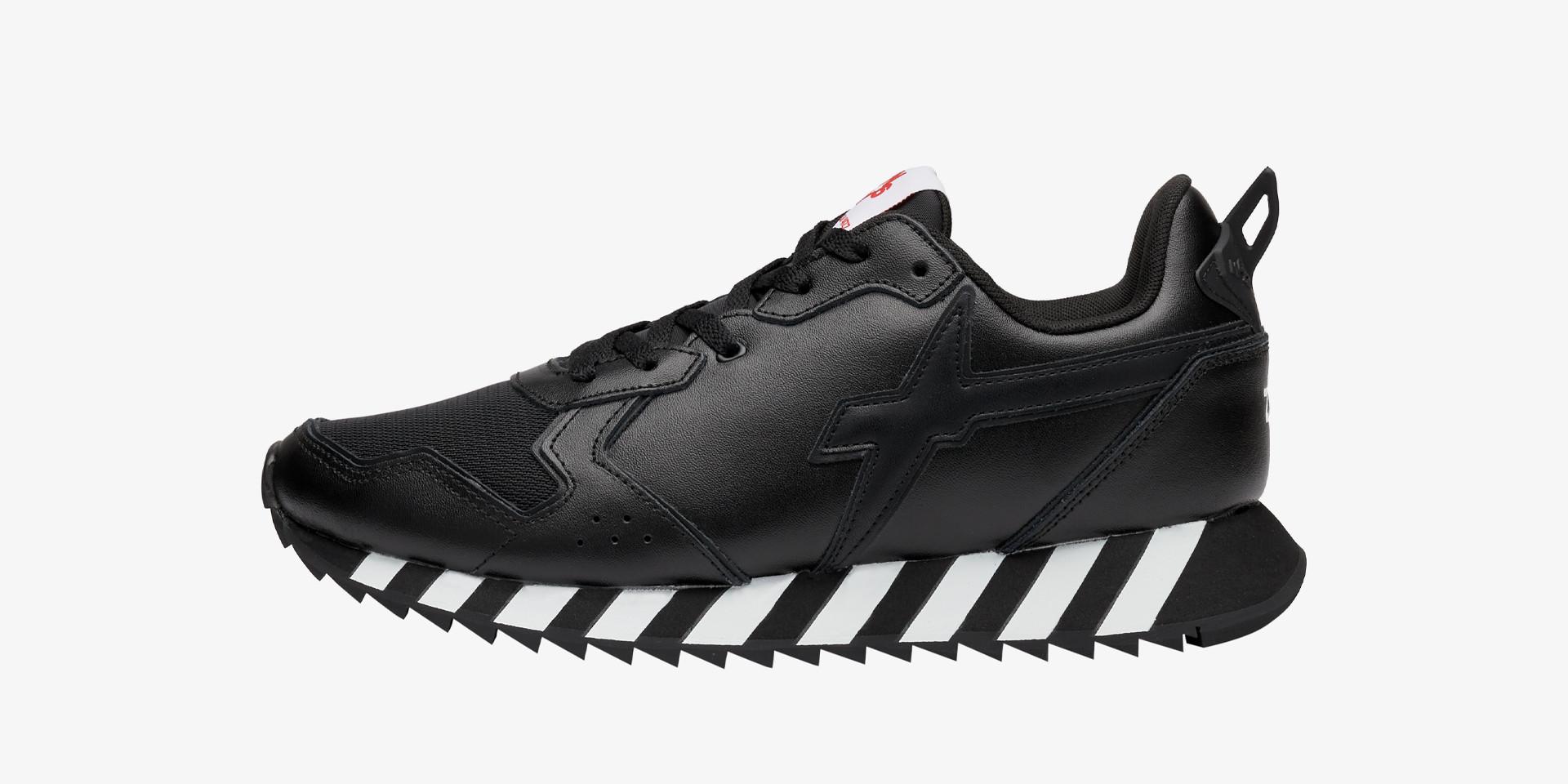 Sneaker in pelle vegana Nero-JET-M.