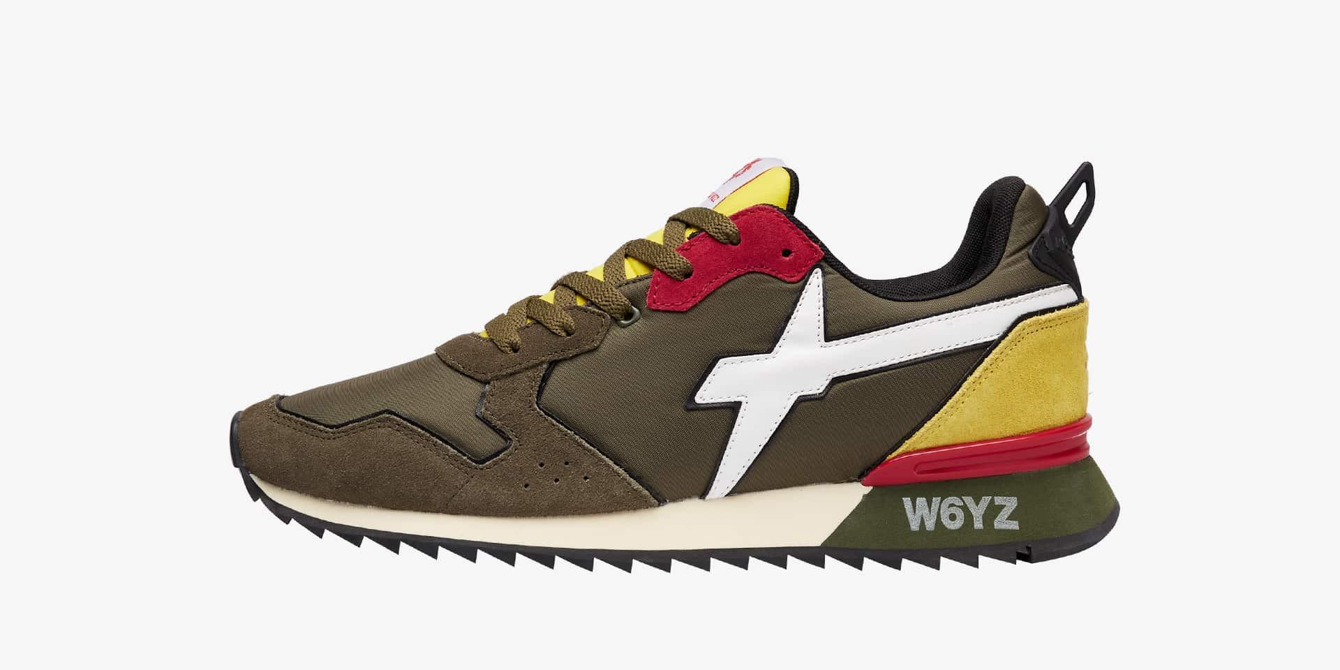 Sneaker in tessuto tecnico e suede Militare-JET-M.