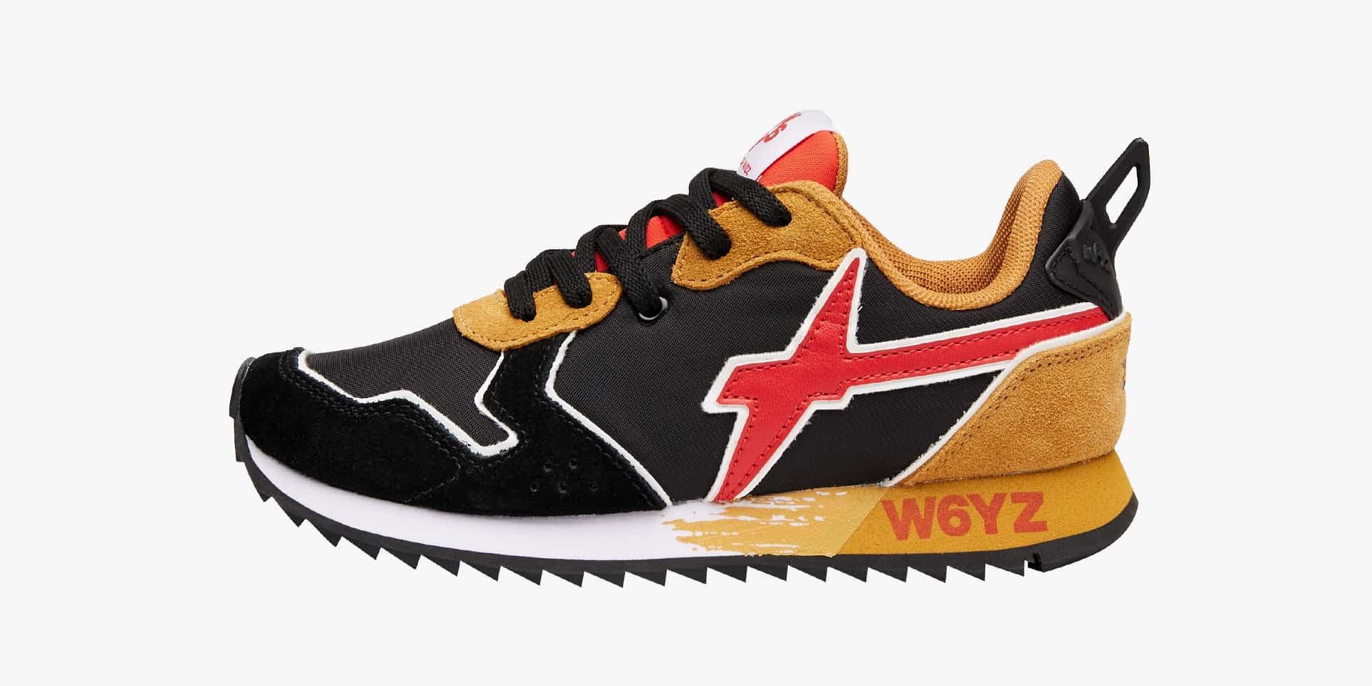 Sneaker in tessuto tecnico e suede Nero-JET-J.