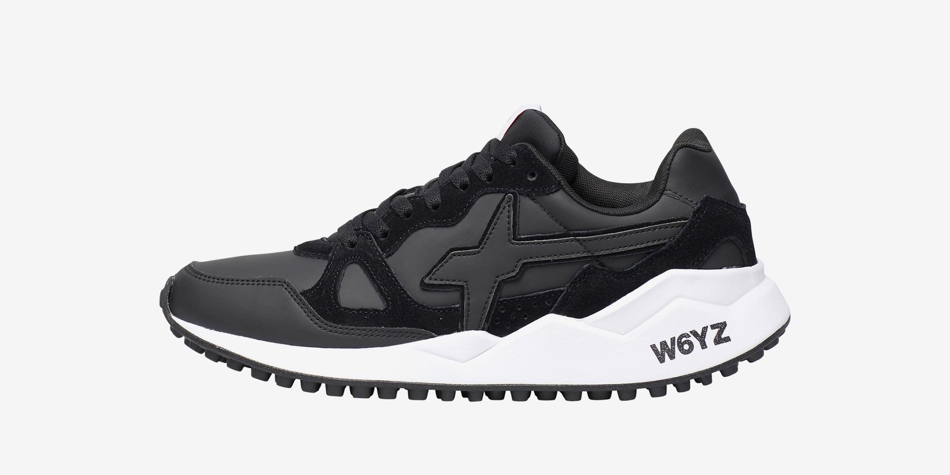 Sneaker in suede spazzolato Nero-WOLF-M.