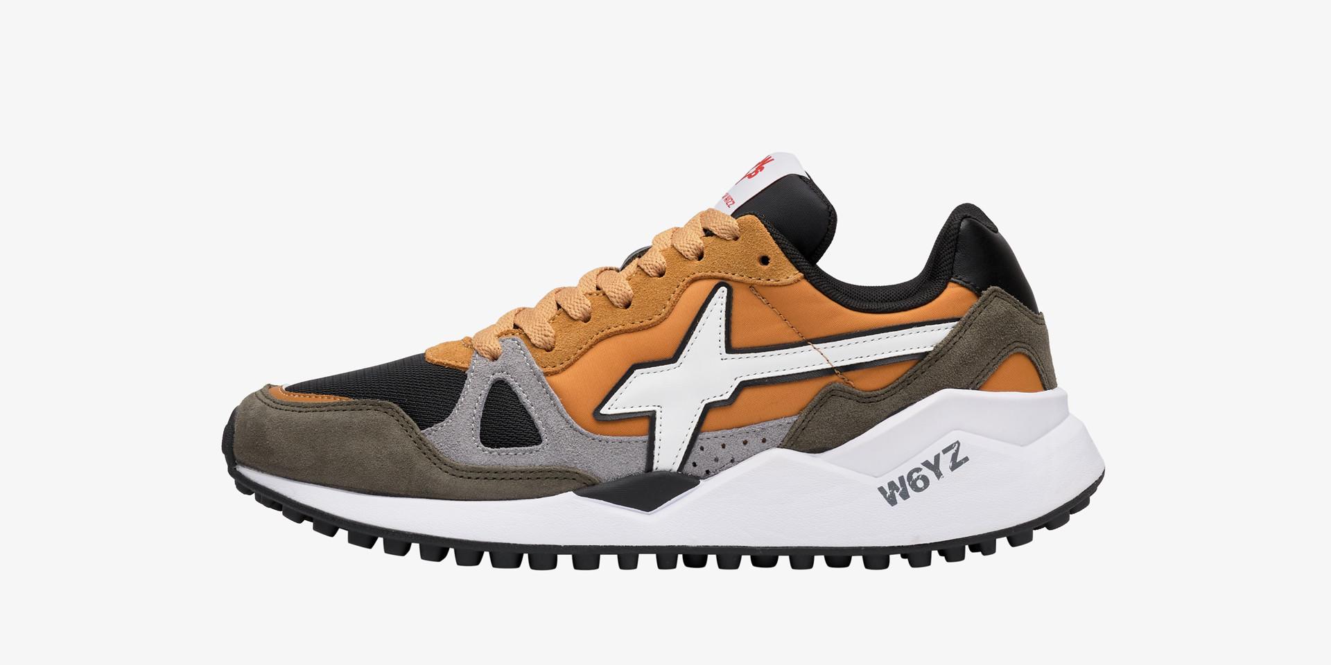 Sneaker in tessuto tecnico e suede Zucca-WOLF-M.
