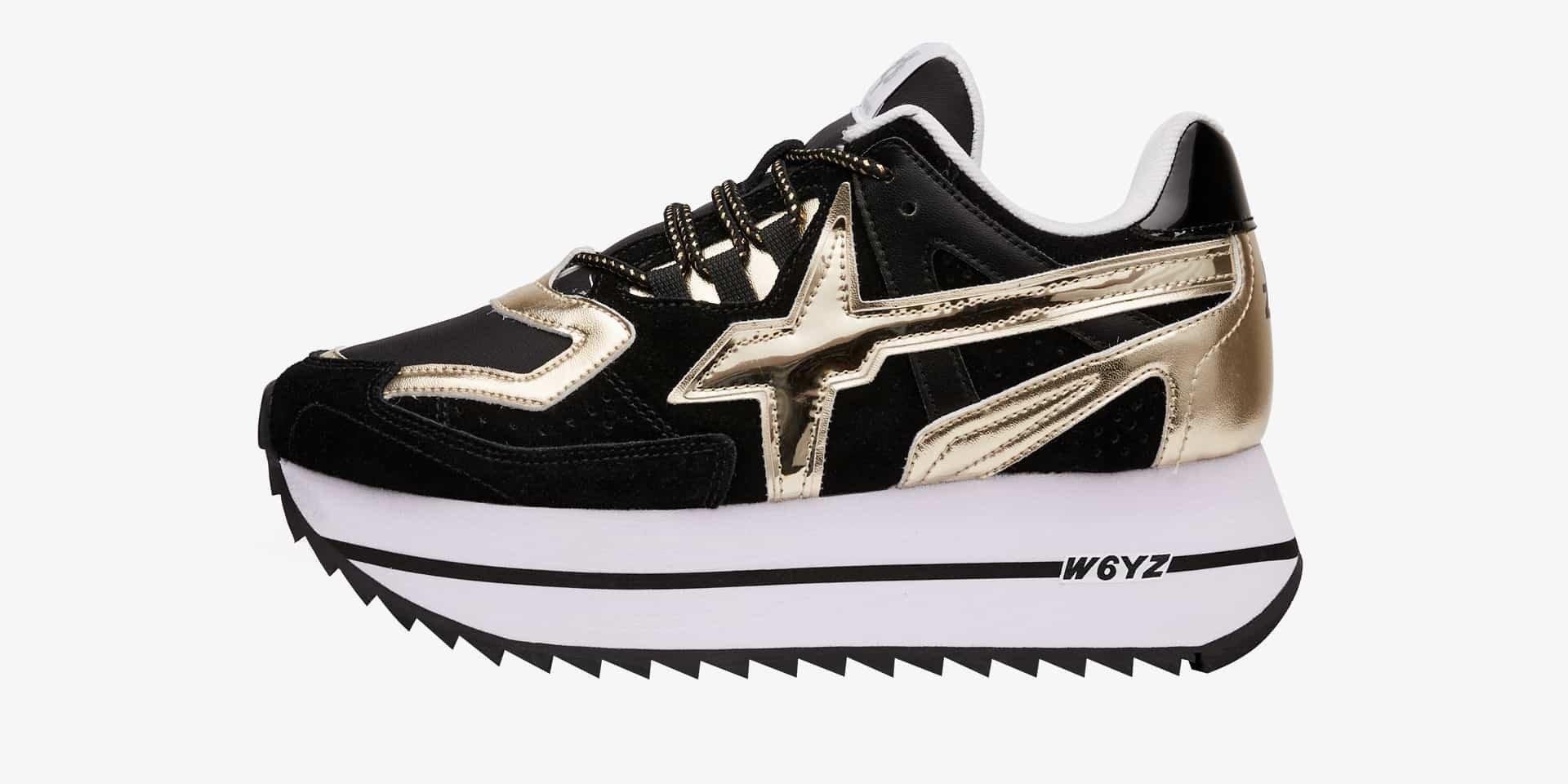 Sneaker in pelle Nero-DEB-W.