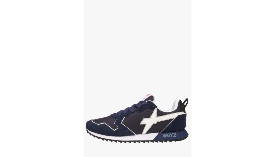 JET-M. - Sneakers in pelle e nylon - Blu/Bianco