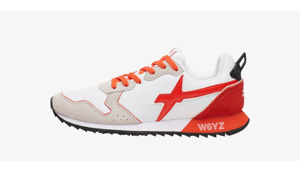 Sneaker in suede e nylon Bianco-JET-M.