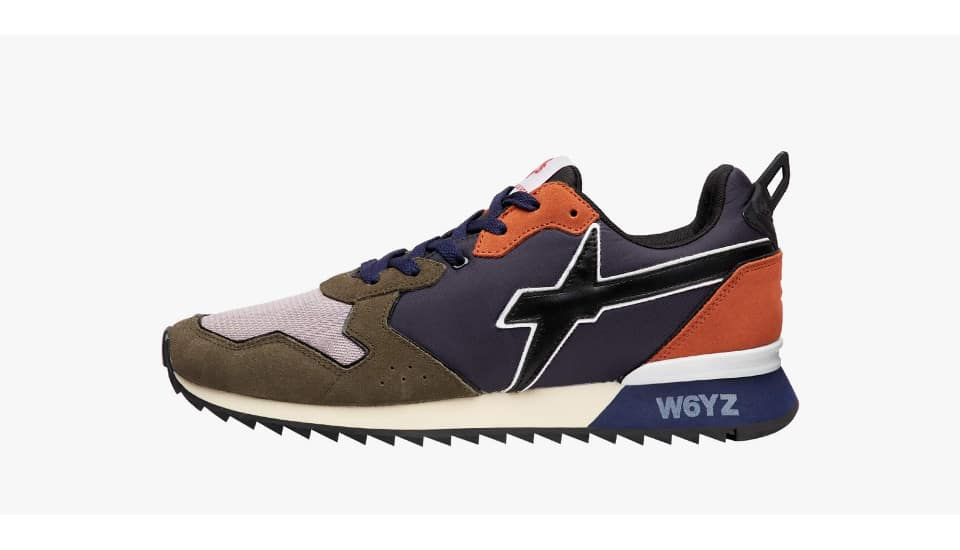 Sneaker in tessuto tecnico e suede Antracite-JET-M.