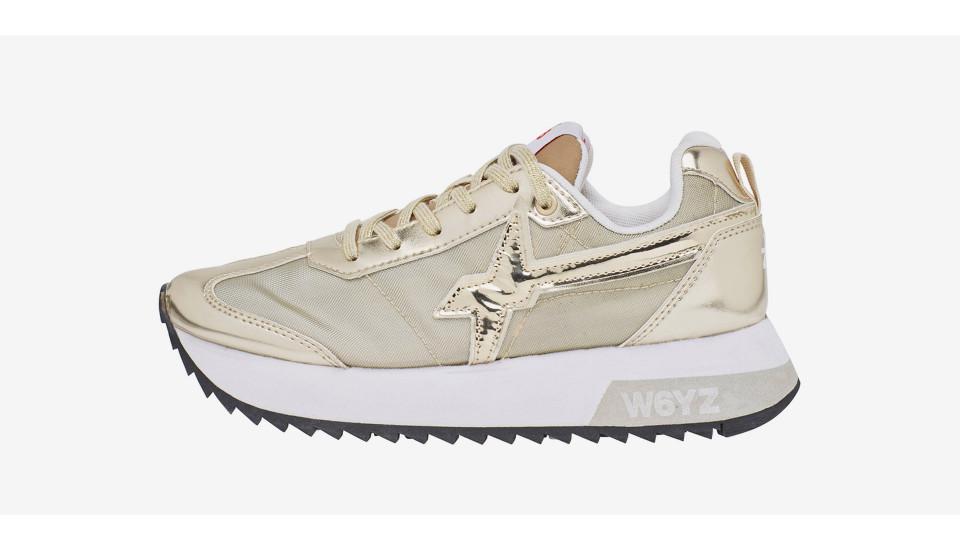 KIS-W. - Sneaker in laminato e rete - Platino