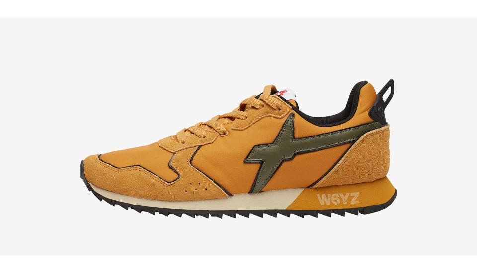 JET-M. - Sneaker in suede e tessuto tecnico - Zucca/Militare