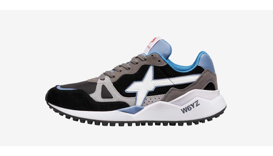 Sneaker in vitello punzonato e velluto Multicolore-WOLF-M.