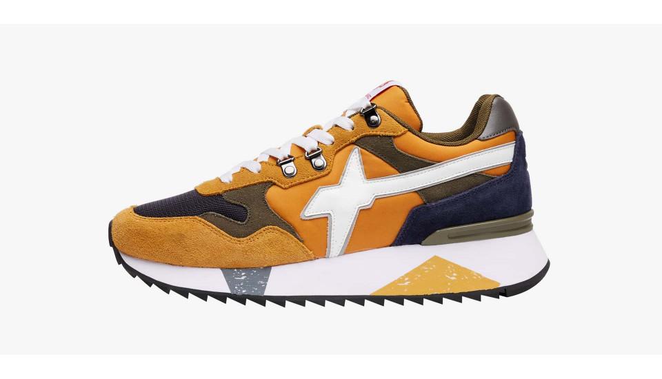 Sneaker in pelle vegana e tessuto tecnico Zucca-YAK-M.