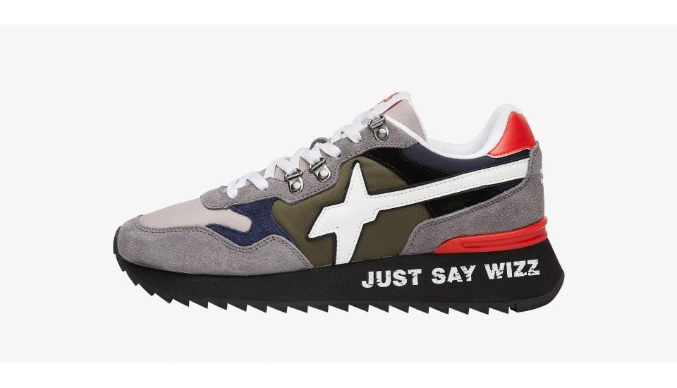 Sneaker in suede e tessuto tecnico Grigio-YAK-M.