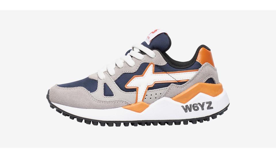 Sneaker in suede e cordura Grigio-WOLF-J.