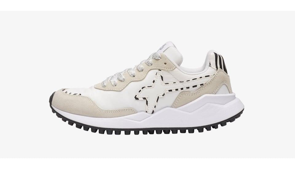 WOLF-W. - Sneaker con dettagli leopardati - Bianco-Zebra