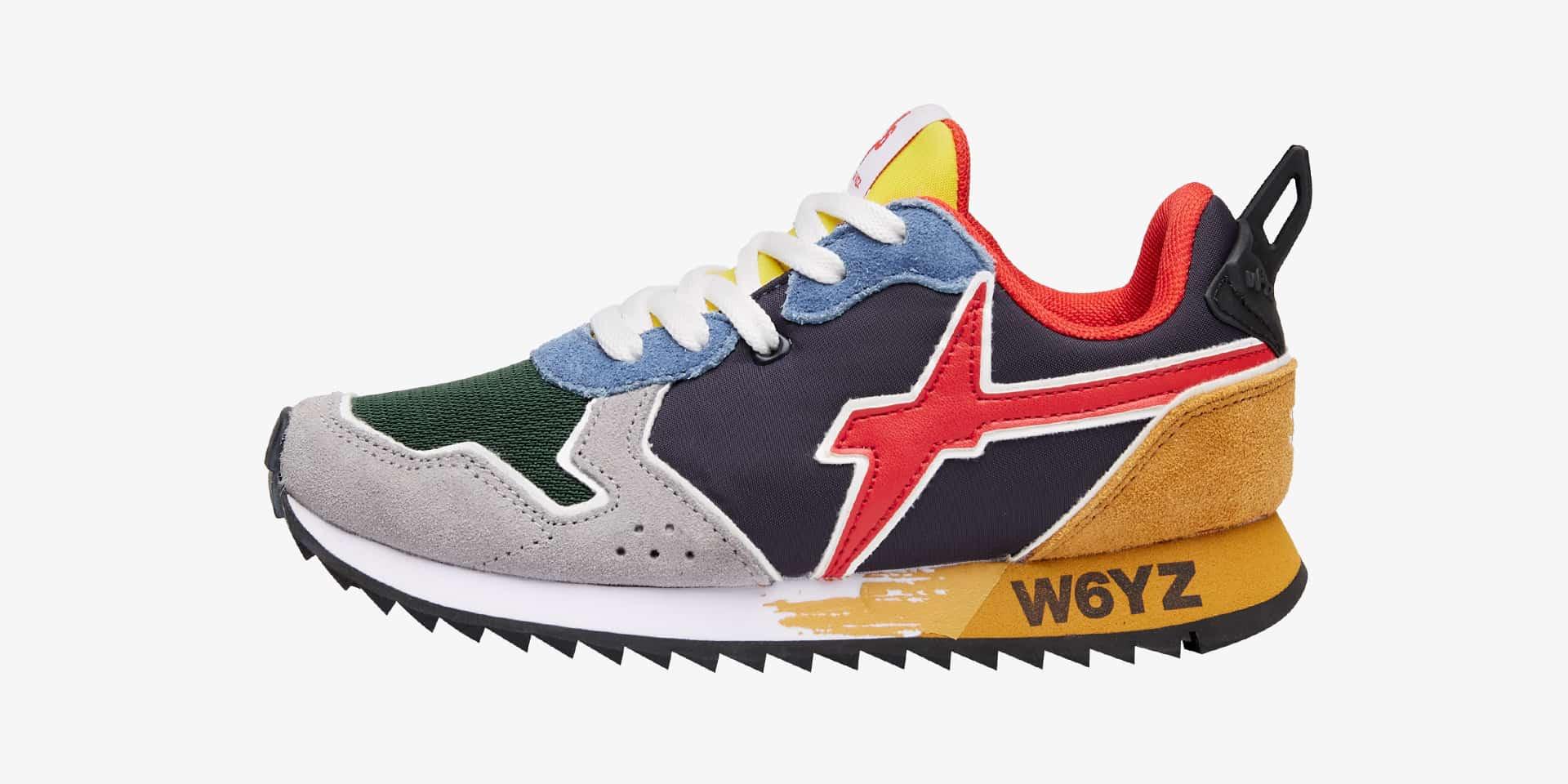 JET-J. - Sneaker in tessuto tecnico e suede - Multicolore