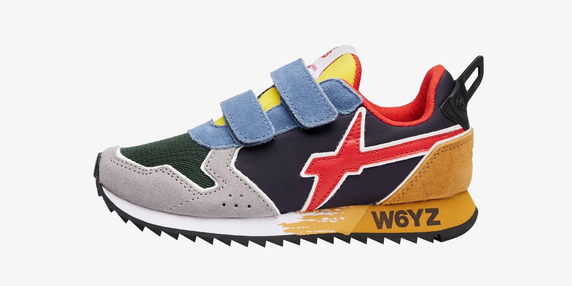 JET VL-J. - Sneaker in tessuto tecnico e suede - Multicolore