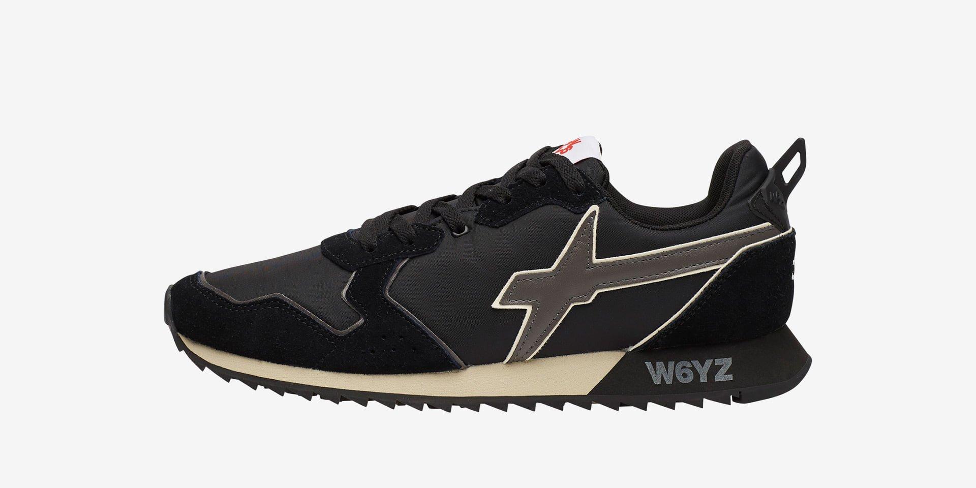 JET-M. - Sneaker in suede e tessuto tecnico - Nero