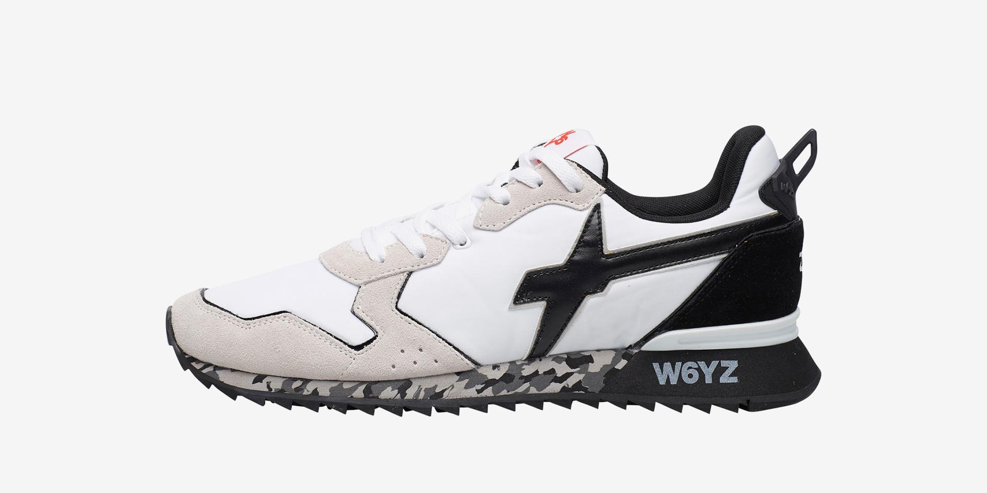 JET-M. - Sneaker in tessuto tecnico - Bianco/Nero