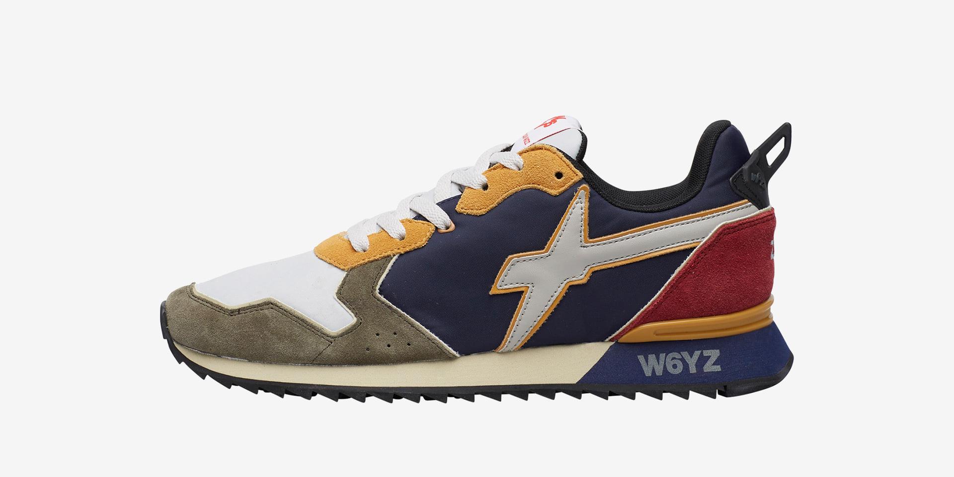 JET-M. - Sneaker in suede e tessuto tecnico - Militare/Grigio