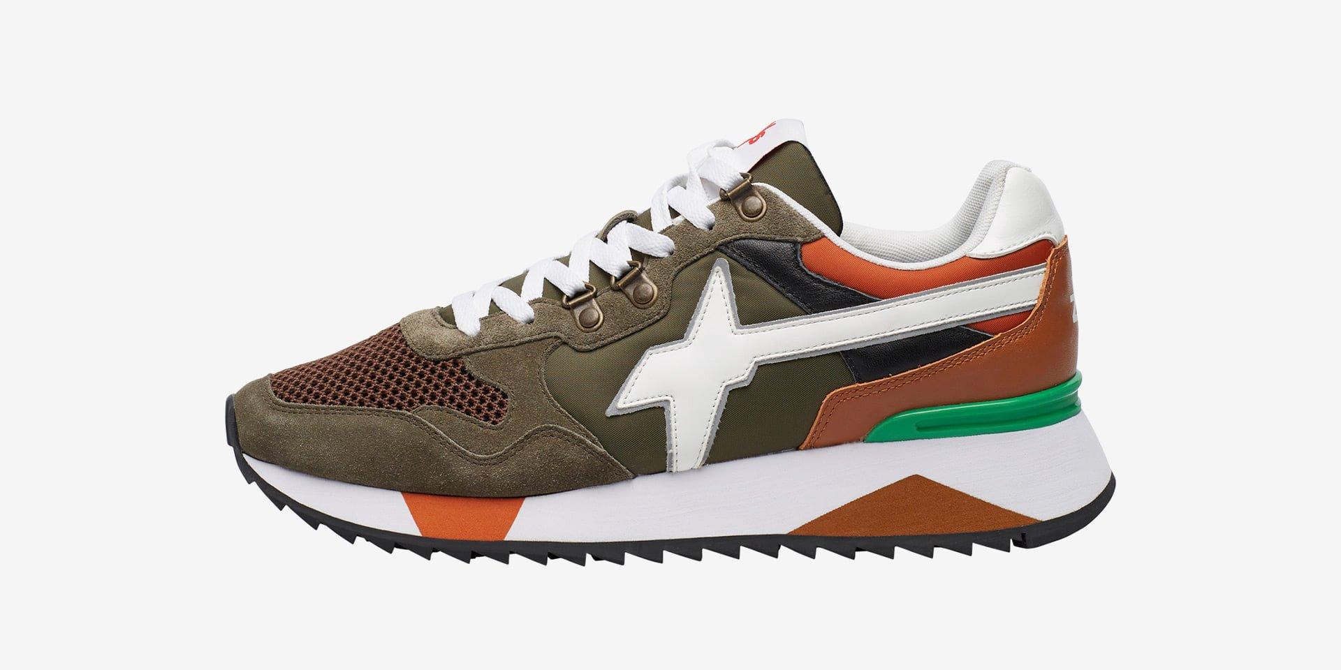YAK-M. - Sneaker in suede, mesh e tessuto tecnico - Militare
