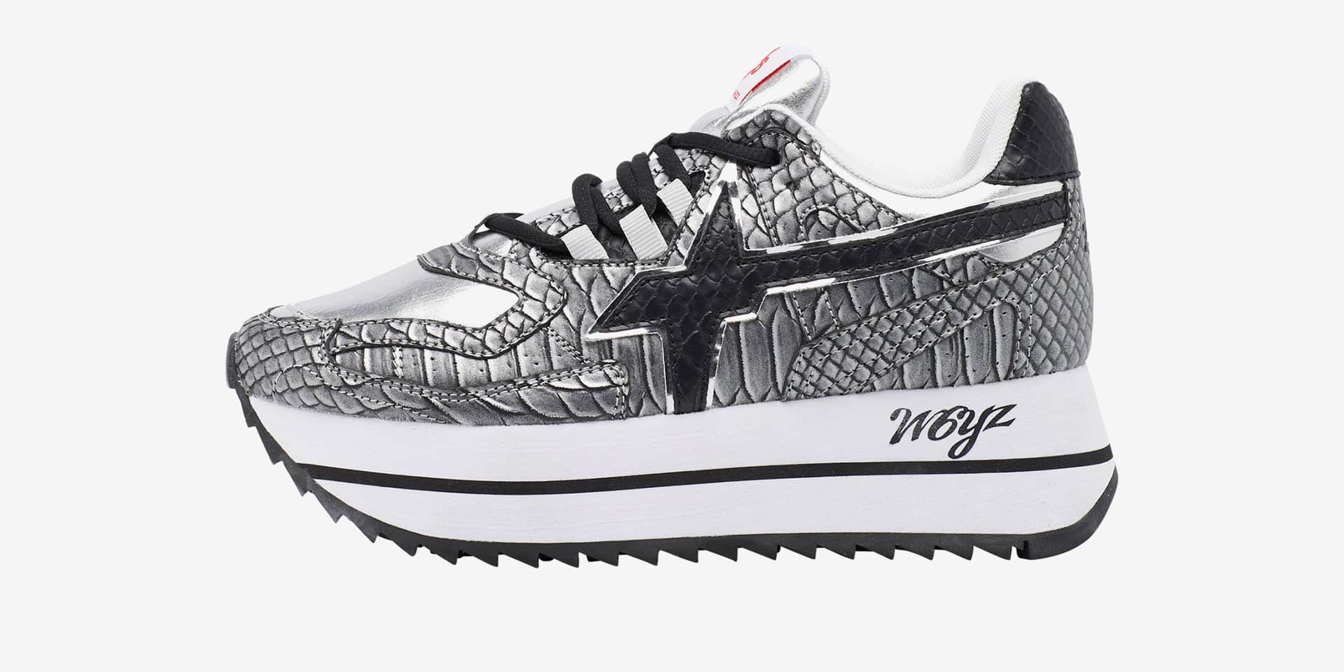 DEBBY-W. - Sneaker in tessuto tecnico con stampa - Grigio/Nero