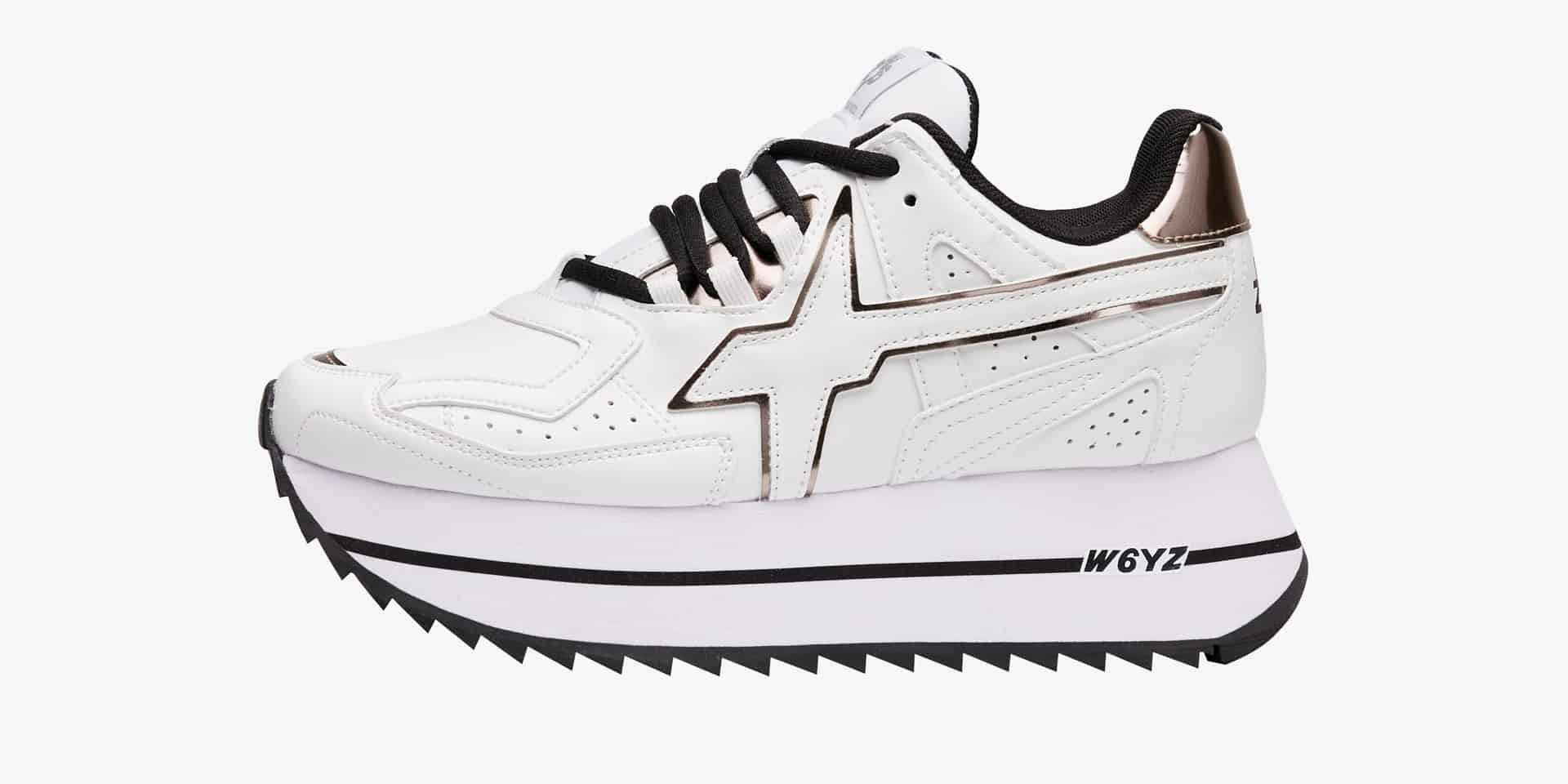 DEB-W. - Sneaker in pelle vegana - Bianco