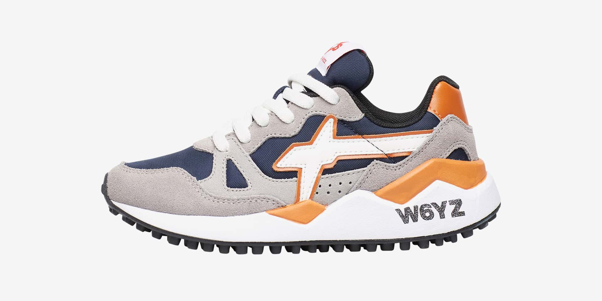 WOLF-J. - Sneaker in suede e cordura - Piombo