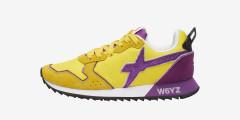 JET-W. - Sneaker in tessuto tecnico e suede - GIALLO-VIOLA