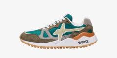 WOLF-M. - Sneaker in tessuto e pelle - Militare