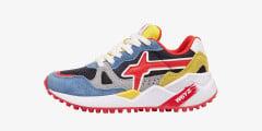 Sneaker in suede e tessuto tecnico Multicolore-WOLF-J.